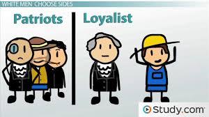 british loyalists vs american patriots during the american american patriots during the american revolution video lesson transcript study com