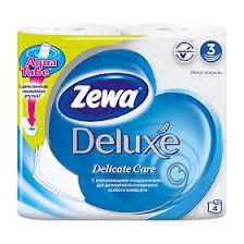 <b>Бумага туалетная Зева</b>, делюкс белая 3-слоиная 4 шт. - купить ...