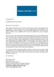 academic reference letter kingston university  15 2014 candidate39s farah jabaji dear whom it concern farah jabaji has