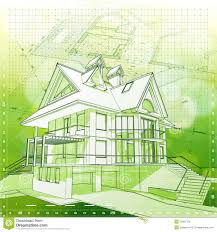 House  Plans  amp  Green Background Stock Photography   Image  House  plans  amp  green background