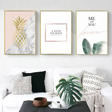 Me And You Forever Golden Pineapple Wall Art Fine Art Canvas ...