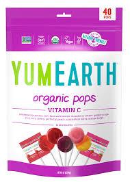 YumEarth <b>Organic Pops</b>, Vitamin C, <b>Assorted</b> Flavors, 8.5 Oz (40 ...