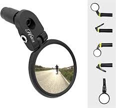 Hafny Bar End <b>Bike Mirror</b>, <b>Stainless Steel</b> Lens, Safe Rearview <b>Mirror</b>