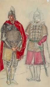 <b>Петров</b>-Водкин Кузьма СергеевичЭскиз <b>костюмов</b> двух воинов к ...