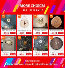 Big Luxury Wall Clock Modern Design Silent <b>Metal Creative Large</b> ...