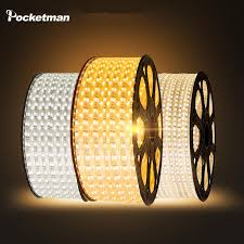 Wholesale LED Strip <b>Waterproof SMD 5050 AC220V</b> 1M 2M 3M 5M ...
