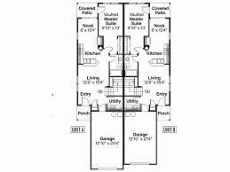 Eplans Craftsman House Plan   One Story Duplex   Vaulted Master    Level