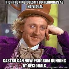 Rich Froning Doesn't do regionals as individual Castro can now ... via Relatably.com