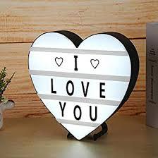 Buy Jokereader LED Night Lamp <b>DIY Letter</b> Light Box <b>Heart</b> Shape ...