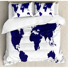 World <b>Map Bedding</b> Sets | Wayfair