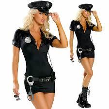 <b>Sexy Female Cop Police</b> Officer Uniform Zipper Front Policewomen ...