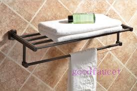 bathroom wall shelves with towel bar