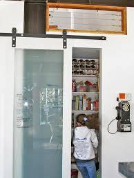 pantry door ideas e multipurpose pantry door the sliding glass barn door on exposed tracks