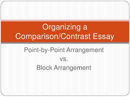 compare contrast essay formatcomparison contrast essay organizing acomparison contrast essay point by point arrangement vs