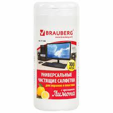 Купить Салфетки для экранов всех типов и пластика <b>BRAUBERG</b> ...
