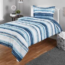 Mainstays Twin or Twin XL Watercolor <b>Stripe Printed Comforter</b> Mini ...