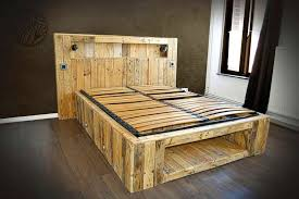 handmade pallet lasting bed with all modern features amazing diy pallet furniture