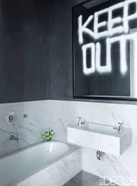 bathroom black gold touch