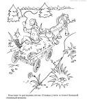 Мужик и медведь сказка раскраска