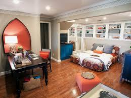 orange blue eclectic bedroom