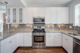 Backsplash Kitchen Tile Top Kitchen Backsplash Glass Tile White Cabinets White Cabinets