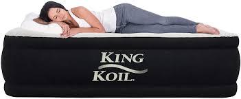King <b>Koil</b> California King Luxury Raised Air Mattress with Built-in ...