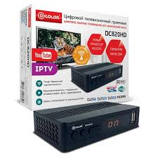 Цифровая ТВ приставка <b>D</b>-<b>color DC820HD</b> ресивер с <b>тюнером</b> ...