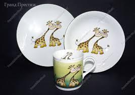 Детский <b>набор посуды</b> 3 предмета фарфоровый купить арт ...