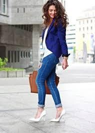 <b>Синий пиджак</b> (60 фото): женские модели, с чем носить, с ...