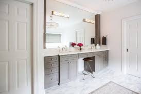 bathroom features gray shaker vanity: gray double bathroom vanity with white marble top view full size