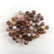 Купить <b>Бусина</b> агат серый Ботсвана <b>шарик</b> 8-8,<b>5</b> мм огранка (1 ...