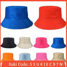 Men <b>Women Outdoor</b> Bucket <b>Hat</b> Solid Fishing <b>Summer</b> Sun <b>Cap</b> ...