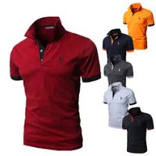 Spring and Summer New Men's Casual Printing Polo Shirt ... - Vova