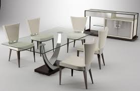 astonishing modern dining room sets: dining table glass with four seating astonishing affordable modern furniture white modern furniture