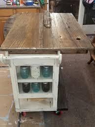 rustic kitchen island: diy barnwood top rustic kitchen island kitchen design kitchen island repurposing upcycling
