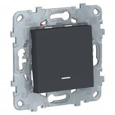 <b>Переключатель</b> 1-клав перекрестный с подсветкой Антрацит ...