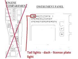 2003 toyota corolla fuse box diagram location manual 2003 toyota corolla questions 2004 corolla s dash board and tail on 2003 toyota corolla fuse box