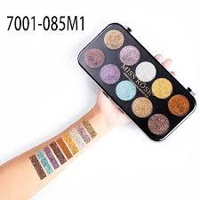 <b>Miss Rose</b> 10 Colors <b>Glitter</b> Eyeshadow Palette Diamond Sparkling ...