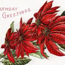 Poinsettia Birthday Postcard - Old Design Shop Blog