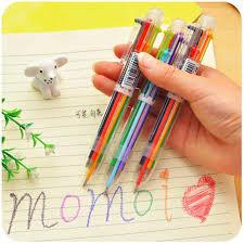 DL D106 <b>creative</b> cartoon multicolor pen multifunctional press <b>color</b> ...