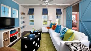 baroque rowe furniture in family room beach style with interior shutters next to tommy bahama style furniture alongside barn door with window and bonus room beachy style furniture