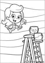 Small Picture Nonny Bubble Guppies Driving Racing Car Coloring Page Online