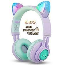 Kids Headphones, Riwbox CT-7S Cat Ear Bluetooth ... - Amazon.com