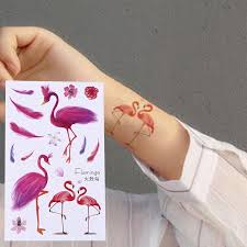 Фламинго стильный арт наклейки водонепроницаемый съемных ...