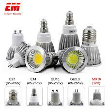 <b>LED Lamp GU10 MR16</b> E14 GU5.3 E27 LED Bulb 3W 5W 7W 220V ...