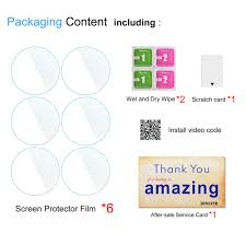 Diruite <b>6</b>-<b>Pack for Xiaomi</b> Huami Amazfit Stratos Screen Protector Film