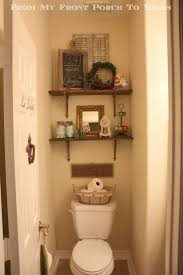 half bath decor: this is an example of pretty good decorating a few too many object yes middot half bathroom