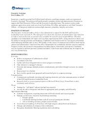 doc executive assistant resume example sample com duties job description for administrative assistant for resume the