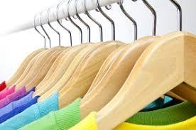 <b>Natural</b> & Chrome <b>Wooden Clothing Hangers</b> - Only Hangers