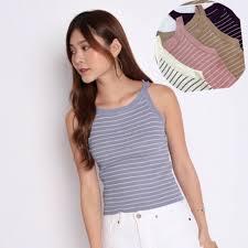 Alichoi❤️❤️<b>korean Fashion</b> sexy sando stripe <b>crop</b> top | Shopee ...
